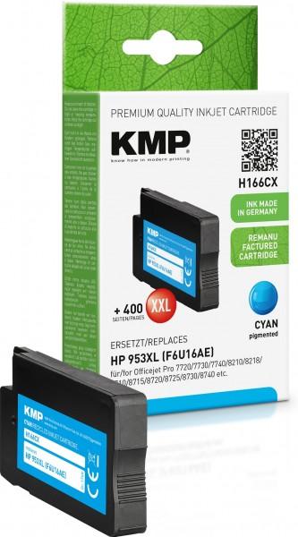 KMP H166CX cyan Tintenpatrone ersetzt HP OfficeJet Pro HP953XL (F6U16AE)