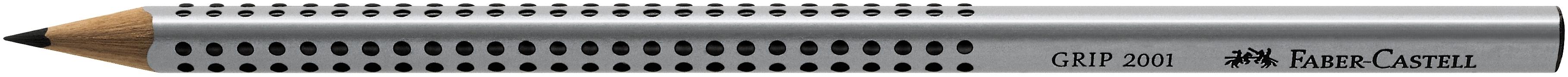 Faber-Castell Bleistift GRIP 2001 - 2B, silbergrau