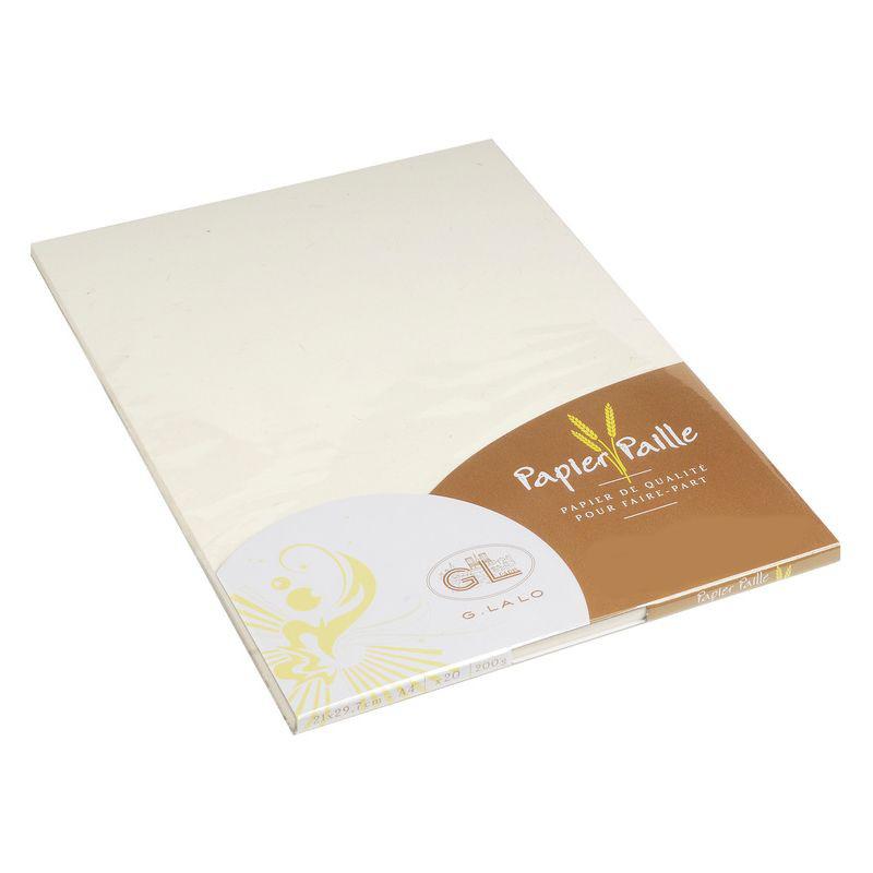 G.Lalo 47416L Schreibblock Strohpapier (perfekt für Ihre Einladungen, säurefrei, DIN A4, 21 x 29,7 c