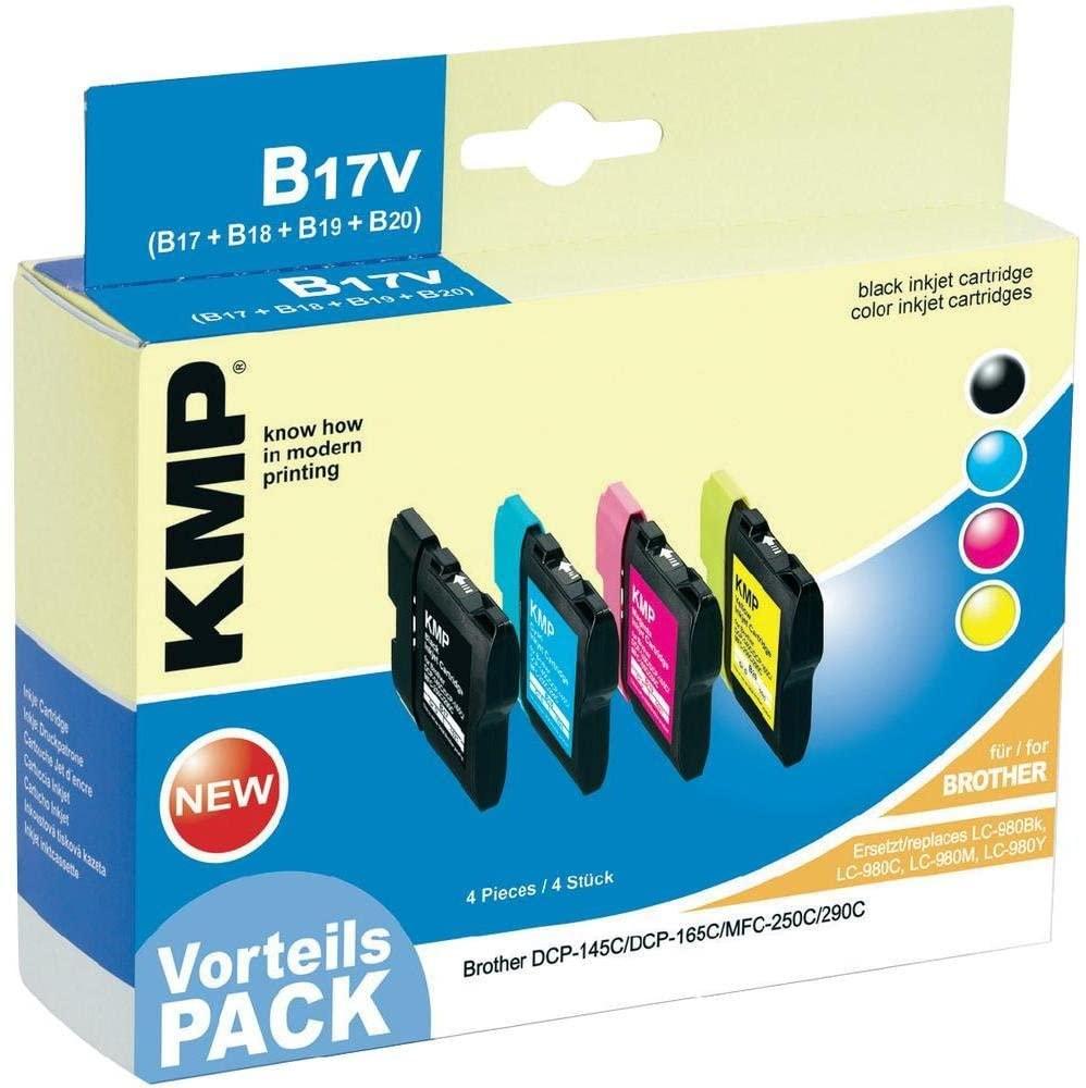 KMP Vorteilspack B17V kompatibel mit Brother LC-980