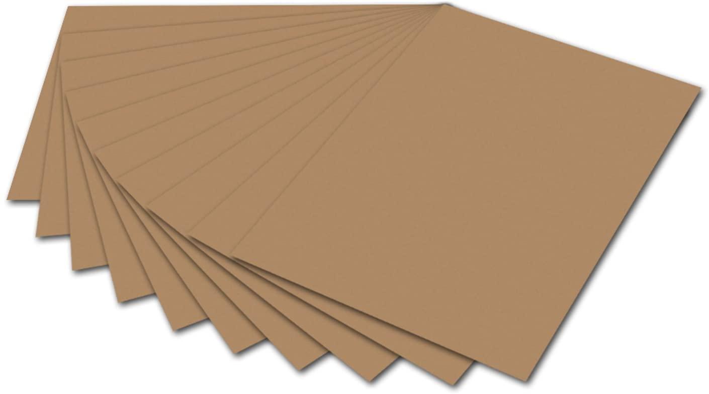 folia 6175 - Fotokarton Rehbraun, 50 x 70 cm, 300 g/qm, 10 Bogen - zum Basteln und kreativen Gestalt