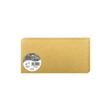 Clairefontaine 22590C Packung mit 25 Doppelkarten, gefaltet 210g, in Format DL, 106 x 213mm, Gold