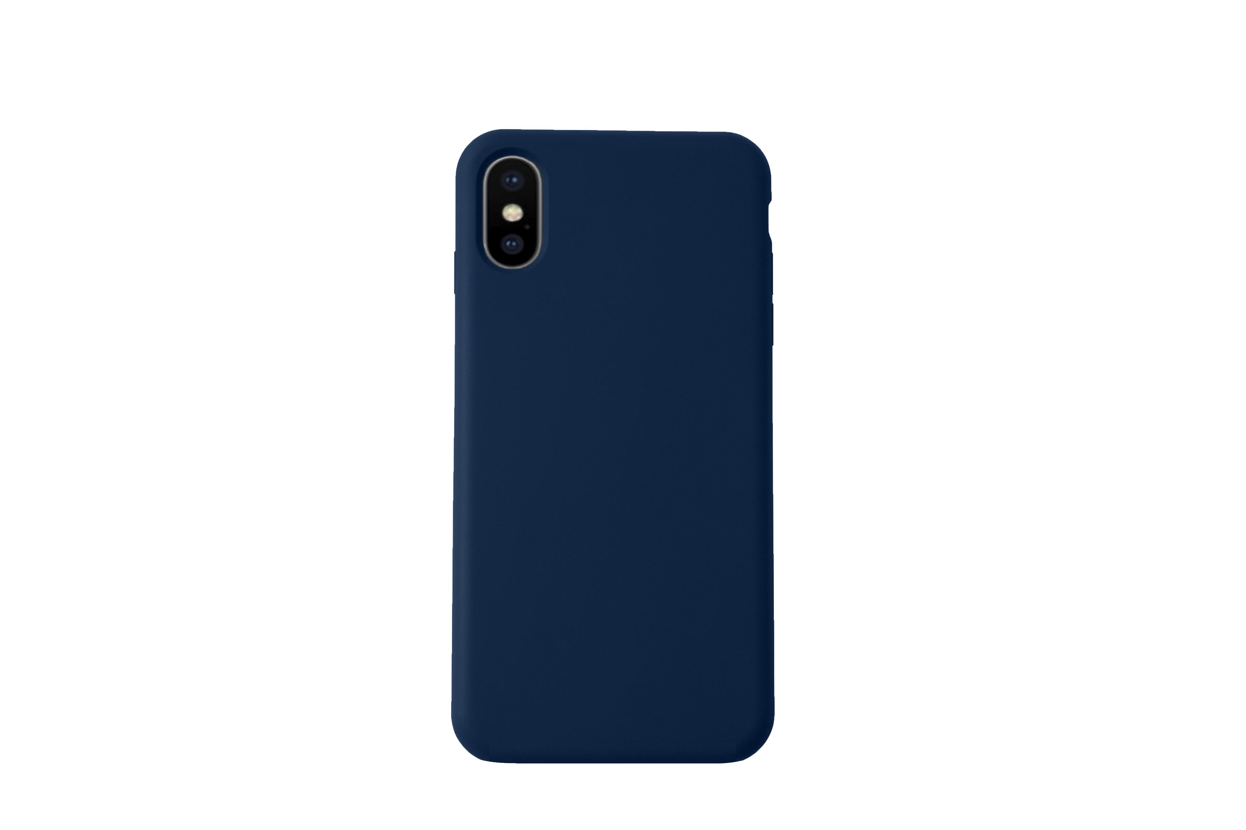 KMP Schutzhülle Silicone Case für iPhone XS Max-sargasso blue