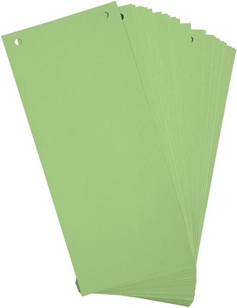 Exacompta 100er Pack Trennstreifen Karton 10,5 x 24 cm Grün für eine übersichtliche Ablage Ihrer Dok