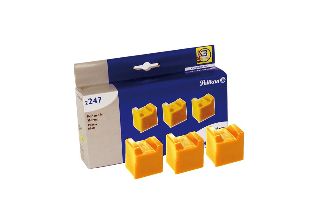Pelikan Festtinte 2247 komp. zu 108R00725 Xerox Phaser 8560 yellow