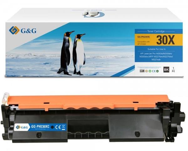 G&G XL-Toner kompatibel zu HP 30X / CF230X Schwarz -Mit Chip- ca. 3.500 Seiten