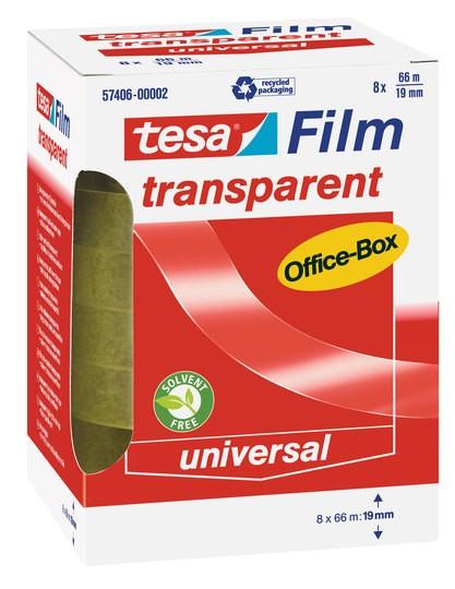 tesa transparent Office-Box 66m x 19mm 8 Rollen