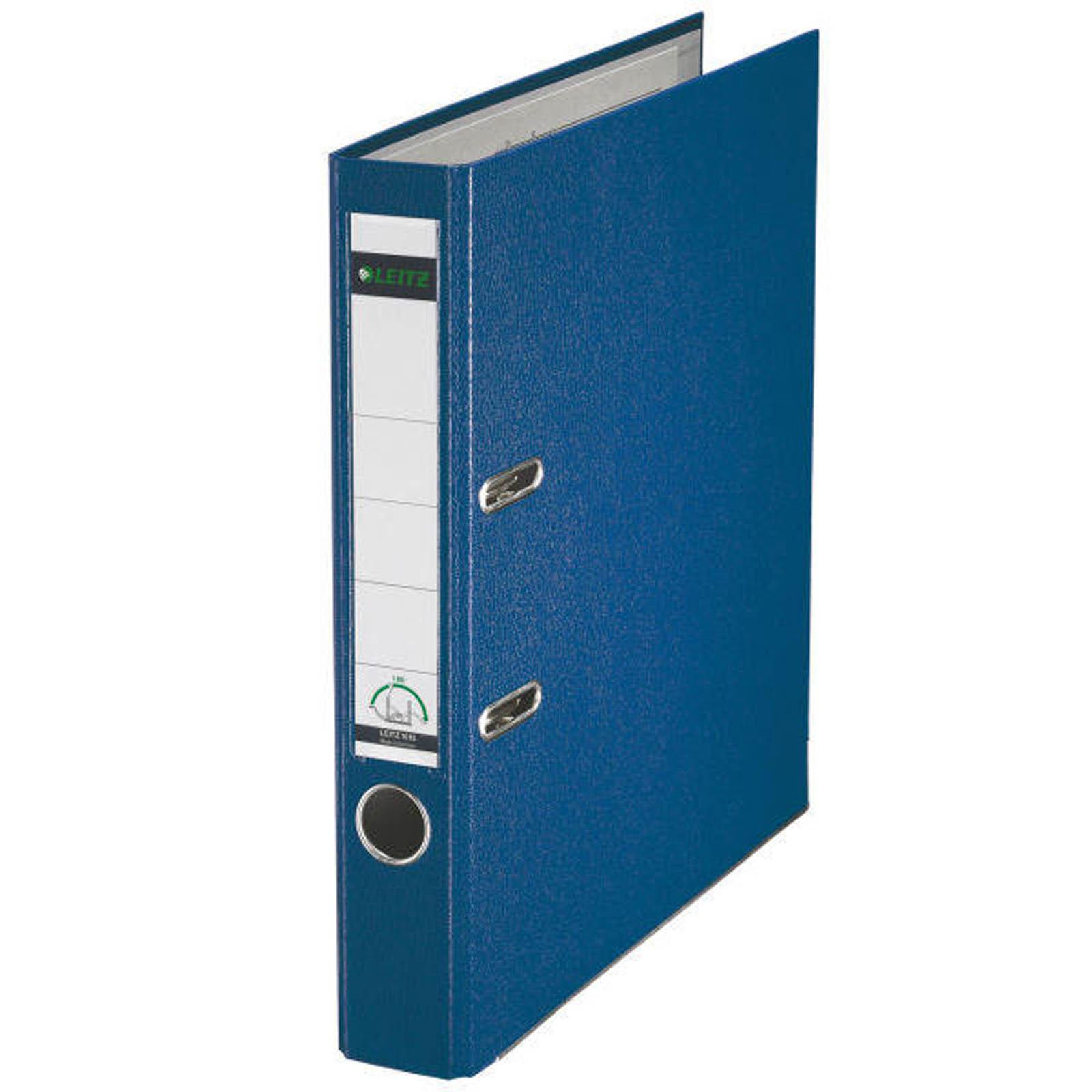 Leitz Qualitäts-Ordner 180° Plastik - A4, 52 mm, blau