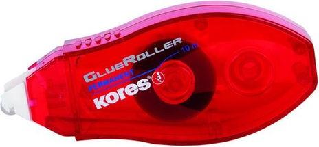 Kores Kleberoller / Glue Roller 8mm x 10m rot K38112