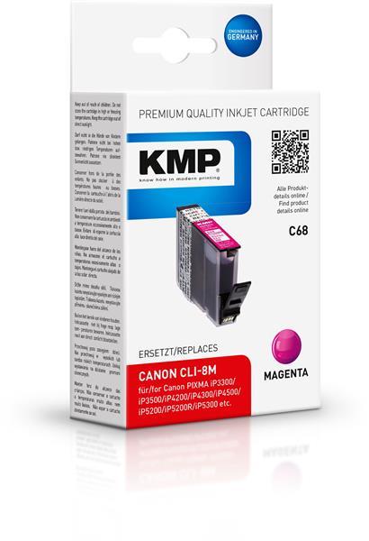 KMP Patrone C68 komp. CLI-8M Canon PIXMA iP4200 5200 MP500 magen