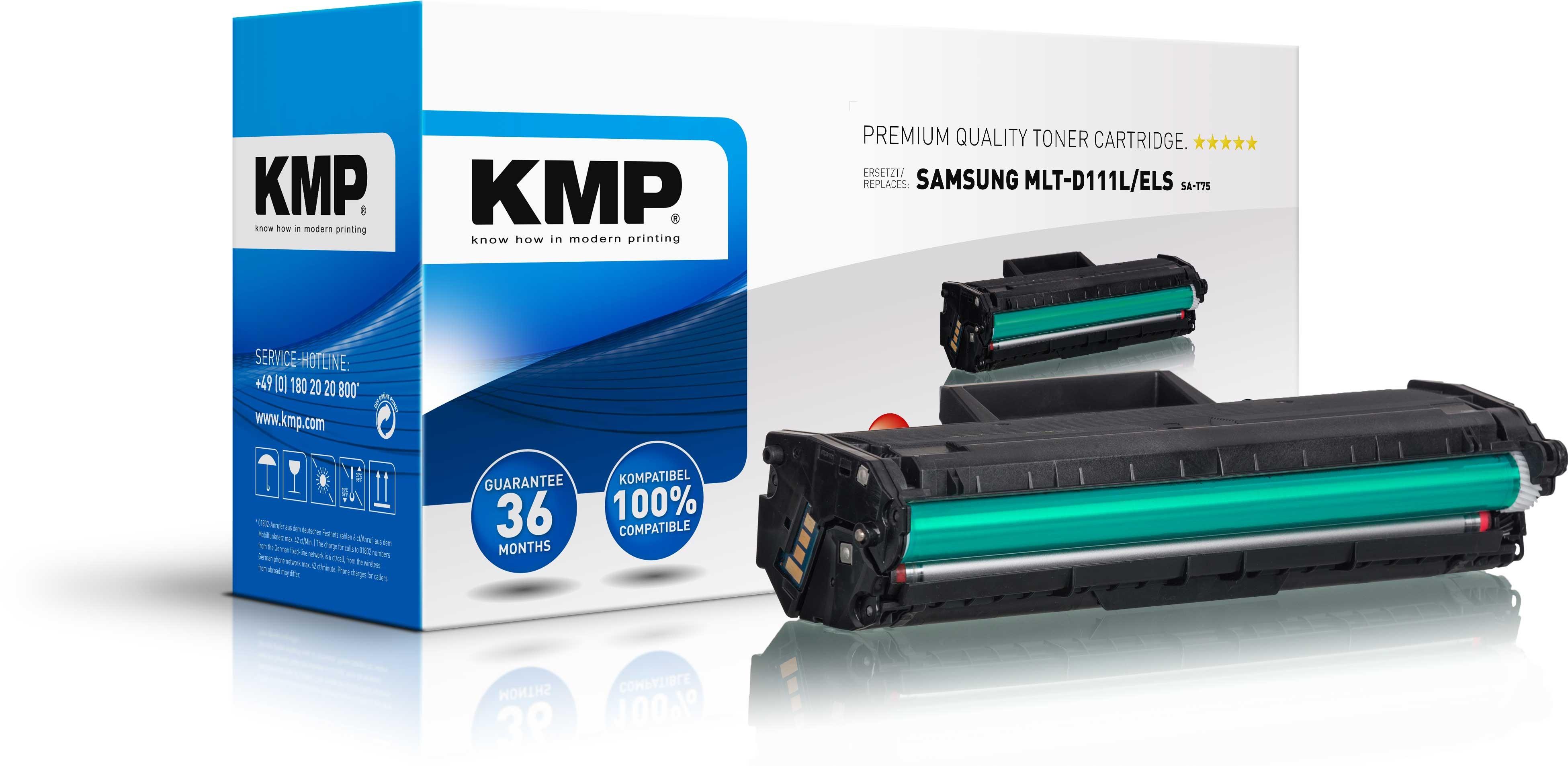 KMP Toner SA-T75 ersetzt MLT-D111L/ELS Samsung Express M2022  etc. black