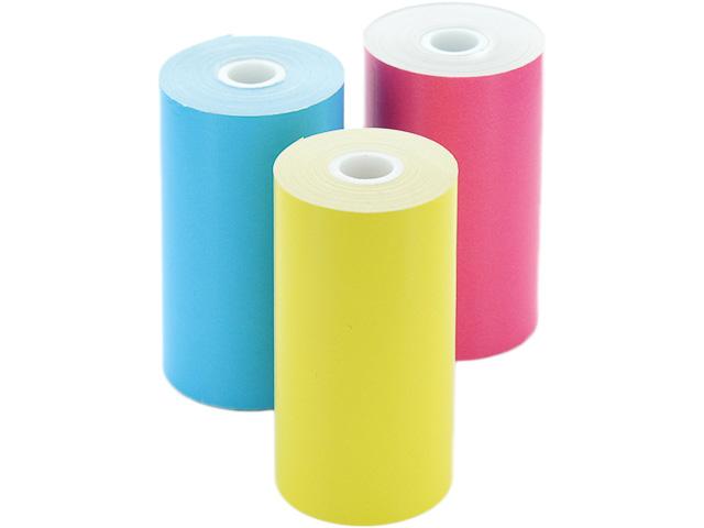 CUBINOTE PRO Thermonotizpapierrolle 3 Rollen gelb/pink/blau HAFTEND ca. 800 Ausdrucke