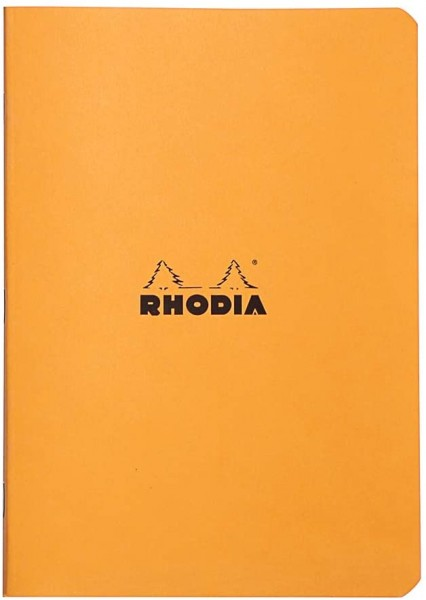 Rhodia 119188C Heft (DIN A5, 14,8 x 21 cm, liniert, 48 Blatt) 1 Stück orange