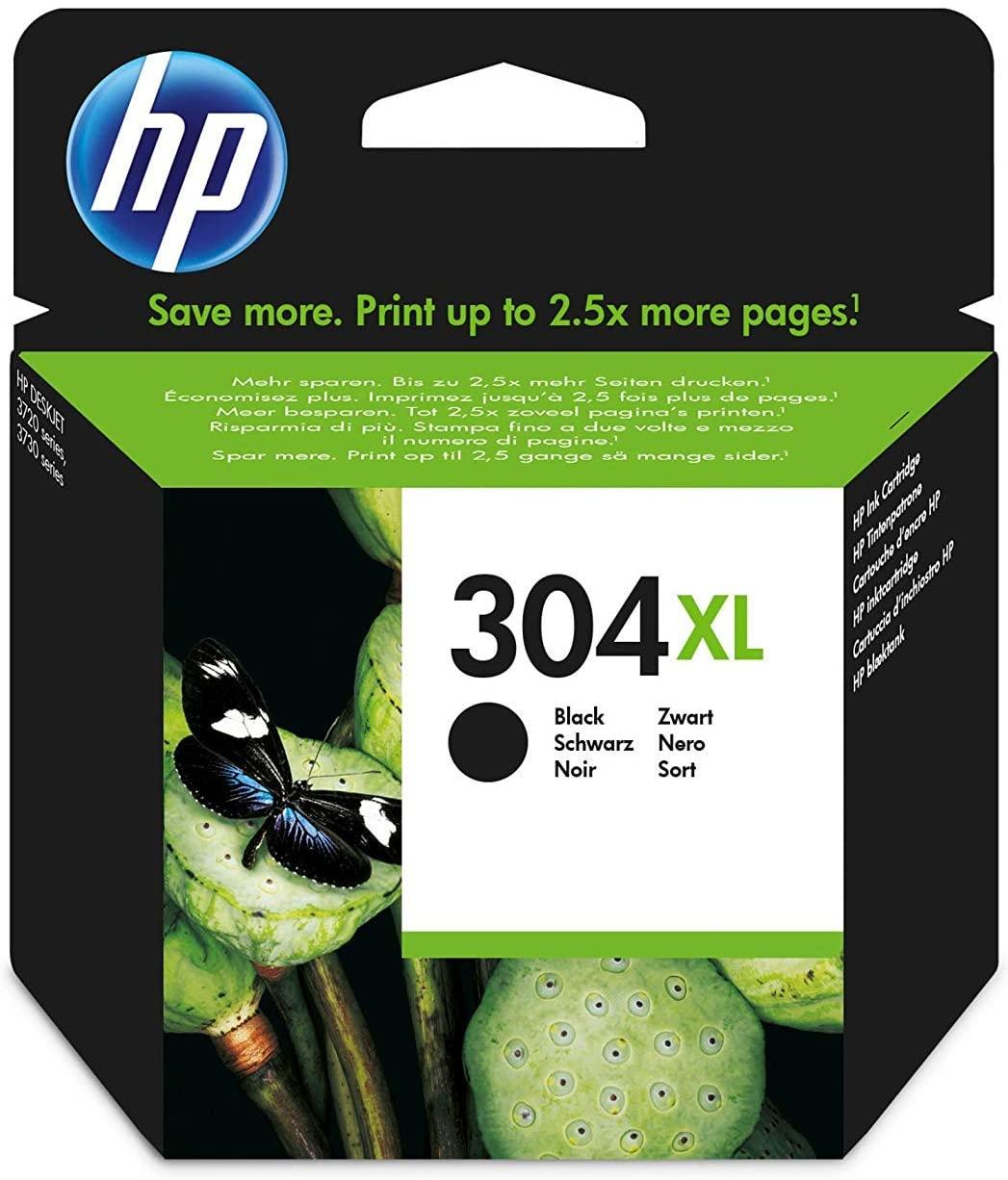 HP 304XL schwarz Original Druckerpatrone mit hoher Reichweite für HP DeskJet 2630, 3720, 3720, 3720,