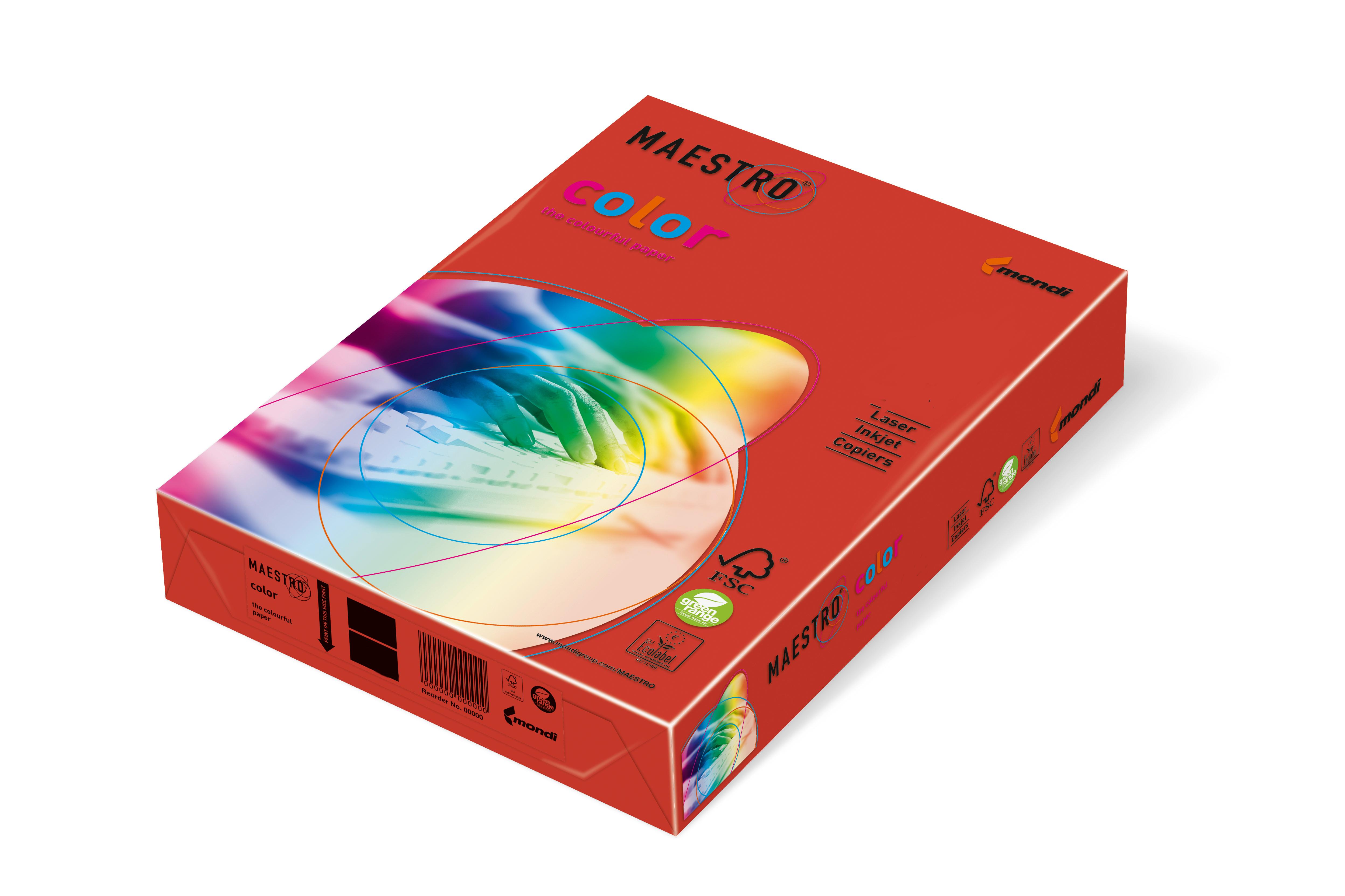 Vorschau: Mondi Maestro Color korallenrot 160g/m² DIN-A4 - 250 Blatt CO44