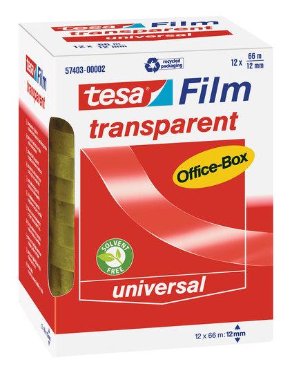 Vorschau: tesa transparent Office-Box 66m x 12mm 12 Rollen