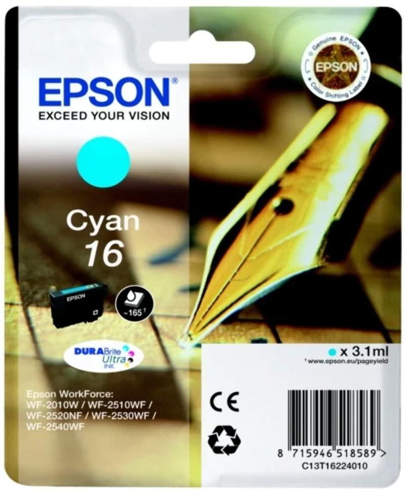 Original EPSON C13T16224012 cyan 3.1ml