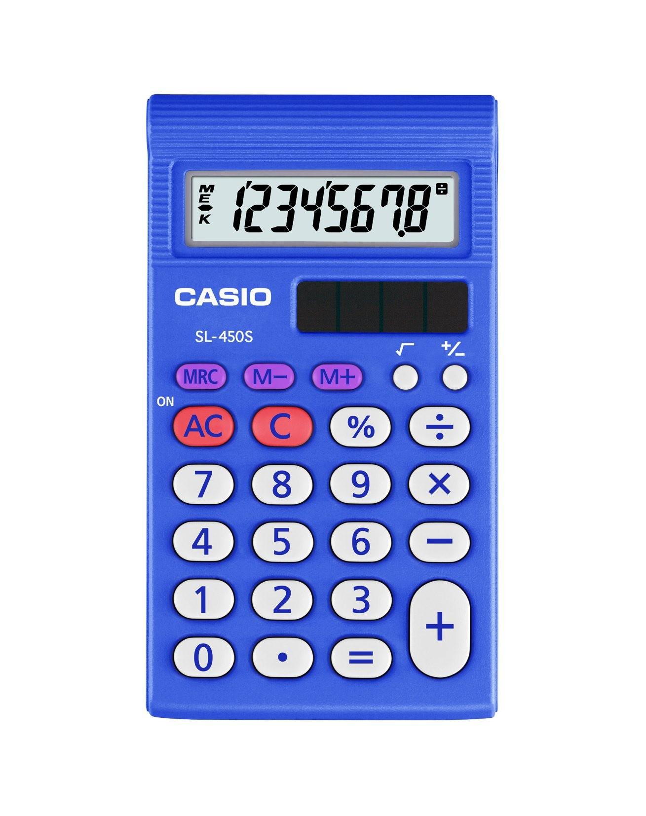 Casio SL-450S, 8-stellig, Wissenschaftlicher Taschenrechner, Taschenrechner-Einsteigermodell, Solar-