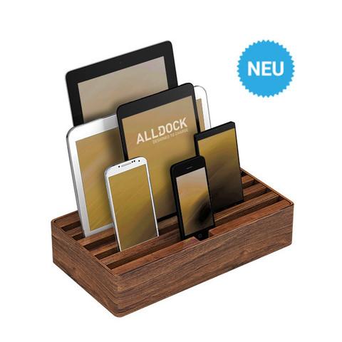 Ladestation ALLDOCK WALNUT 2.0 6-fach USB