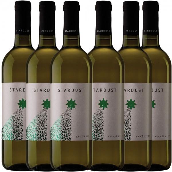 6x 0,75L Flaschen STARDUST Grasevina Weißwein trocken Mazedonien 2016 - 13,0% - 5,55€/L