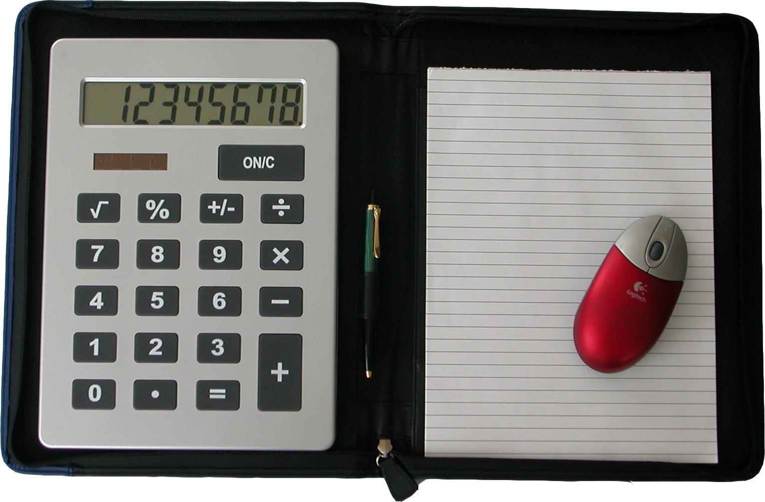 LEO Jumbo Taschenrechner mit Verkaufsmappe A4 inkl. Block