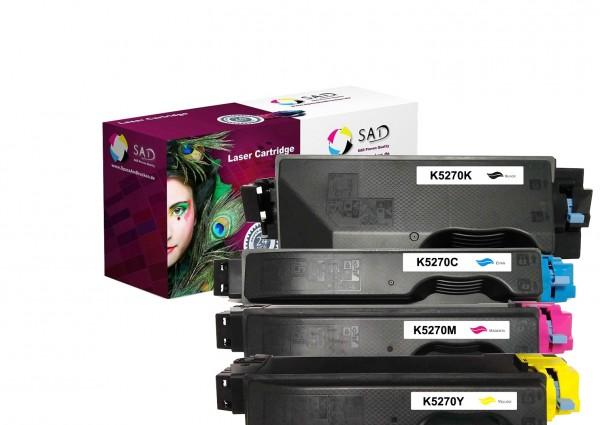 SAD Premium 4er Pack kompatibel mit Kyocera TK-5270 K C M Y