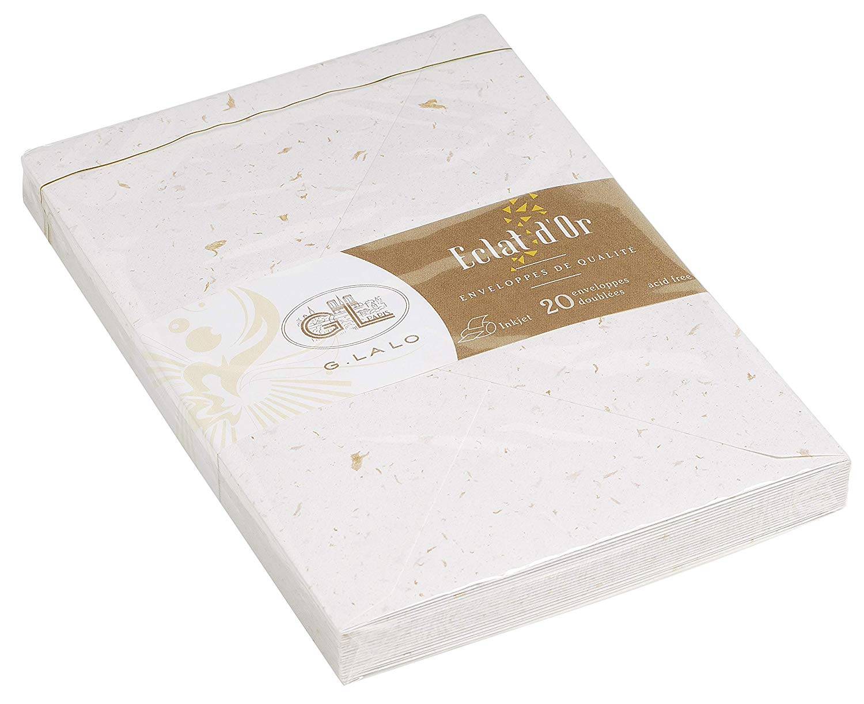 G. LALO Blattgoldpapier Umschläge C6, 16,2x11,4cm 100 g/m² 20 Stück