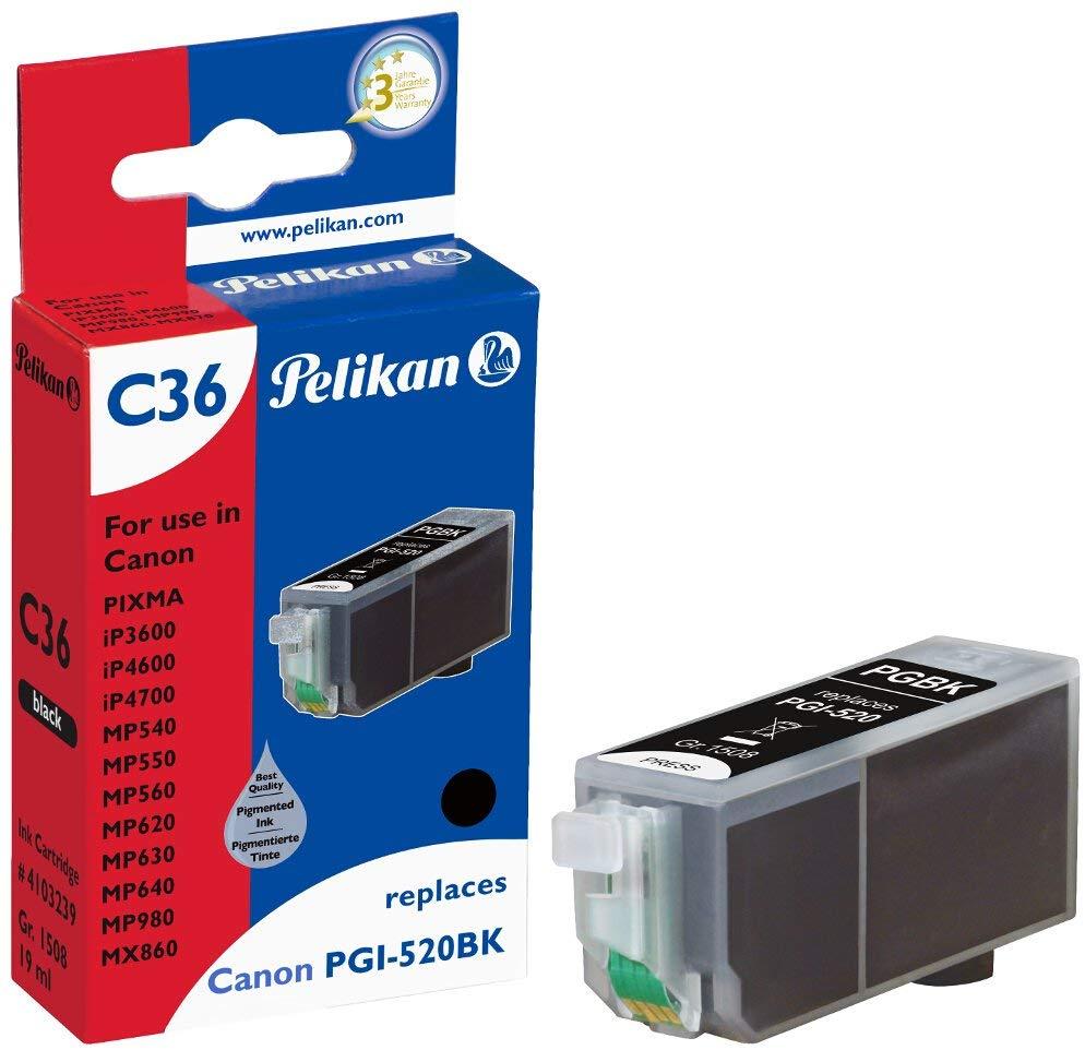Pelikan Tintenpatrone ersetzt Canon PGI-520BK, Black, 405 Seiten