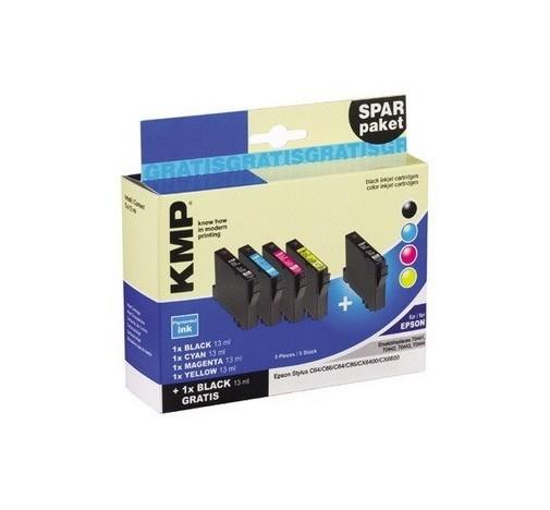KMP SparPaket E70S kompatibel mit Epson T0441 T0442 T0443 T0444 - 5 Patronen
