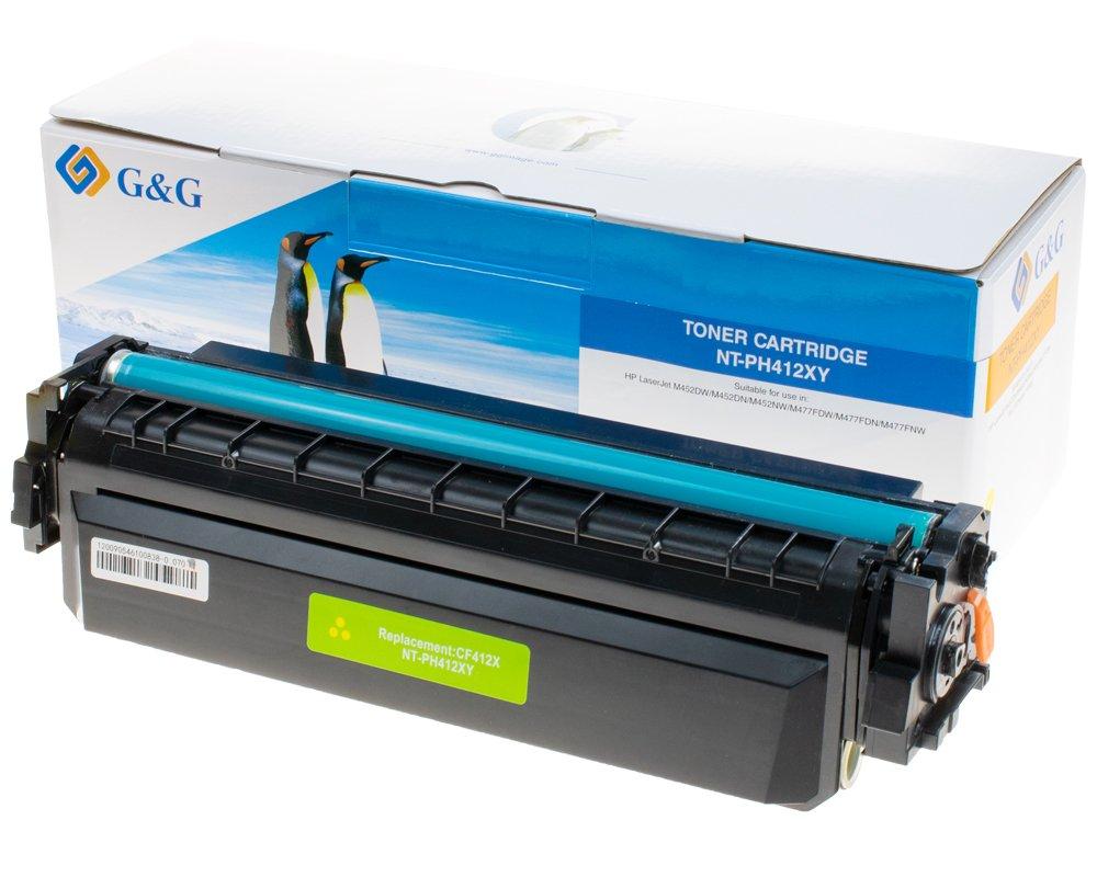 G&G Image XL-Toner kompatibel zu HP 410X/ CF412X gelb