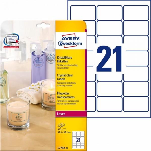 AVERY Zweckform L7780-25 transparente runde Etiketten (600 Klebepunkte, Ø40mm auf A4, runde Aufklebe