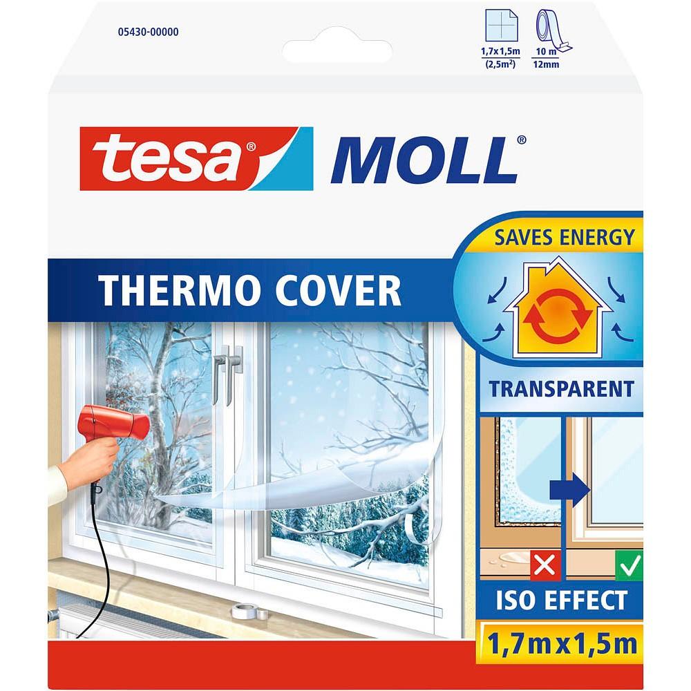 tesa tesamoll® Thermo Cover Fensterisolierfolie 1,7m x 1,5m transparent