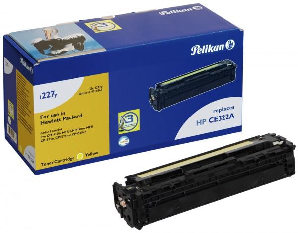 Pelikan Toner 1227y komp. zu CE322A HP LaserJet Color CM1415 yellow