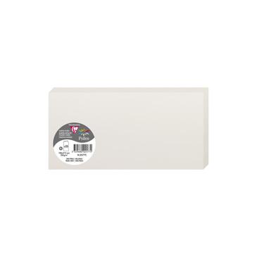 Clairefontaine 2577C Packung mit 25 Doppelkarten, gefaltet 210g, in Format DL, 106 x 213mm, Hellgrau