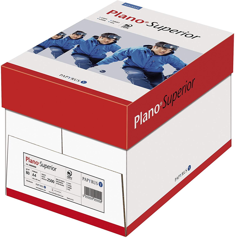 Papyrus 88026777 Drucker-/ Kopierpapier Premium: PlanoSuperior, 80 g/qm, DIN-A4, 2500 Blatt / 5 Ries