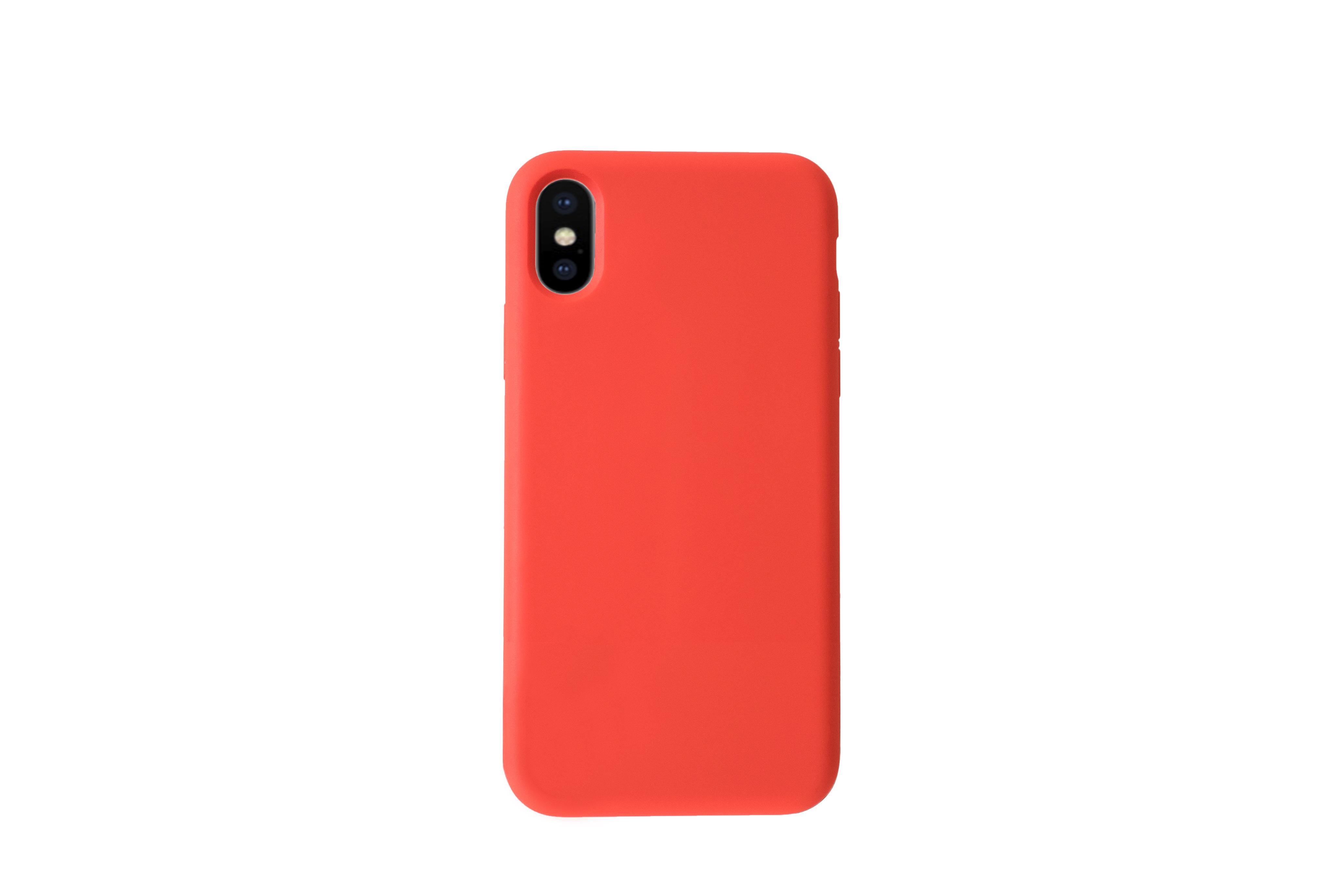 KMP Schutzhülle Silicone Case für iPhone XS Max-red