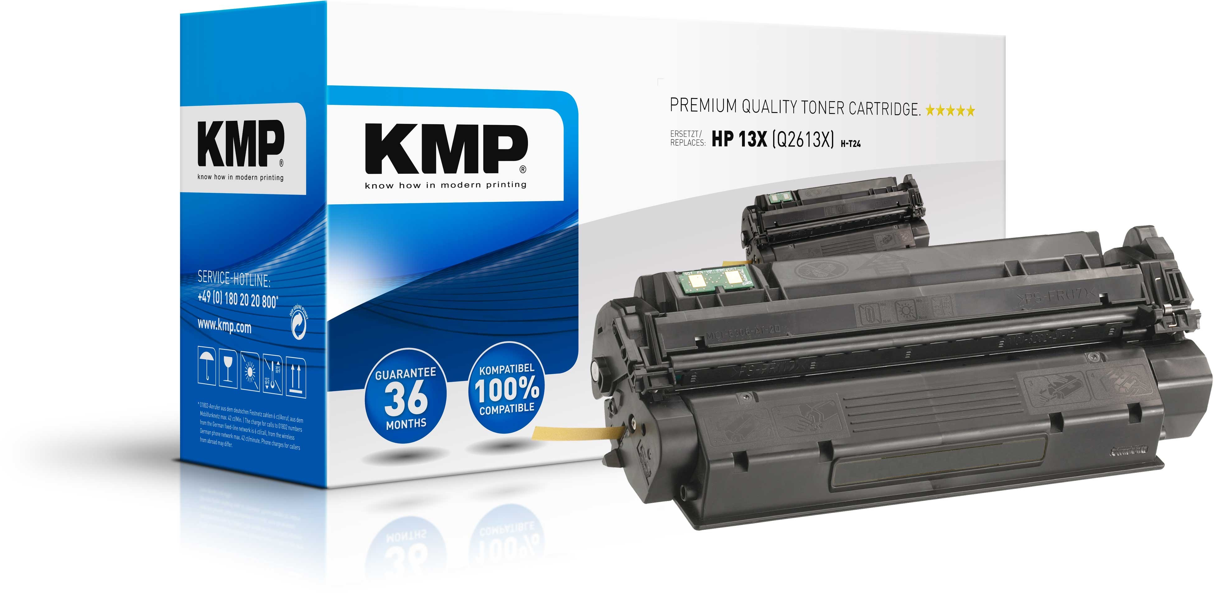 KMP Toner für HP Q2613X Laserjet 1300 Series schwarz High Yield