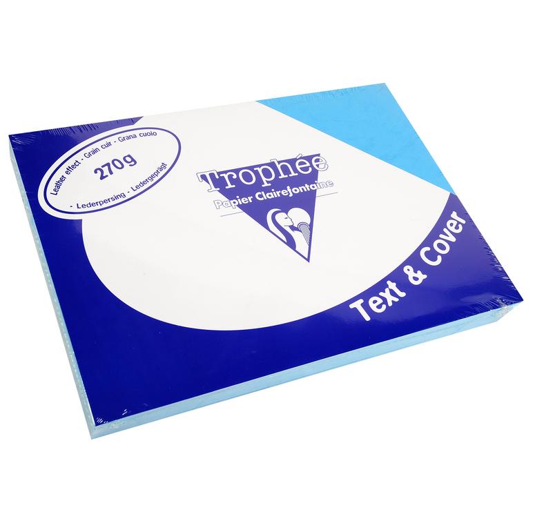 Clairefontaine Ledergeprägtes Papier 270 g/m² DIN-A4 Lazurblau 100 Blatt