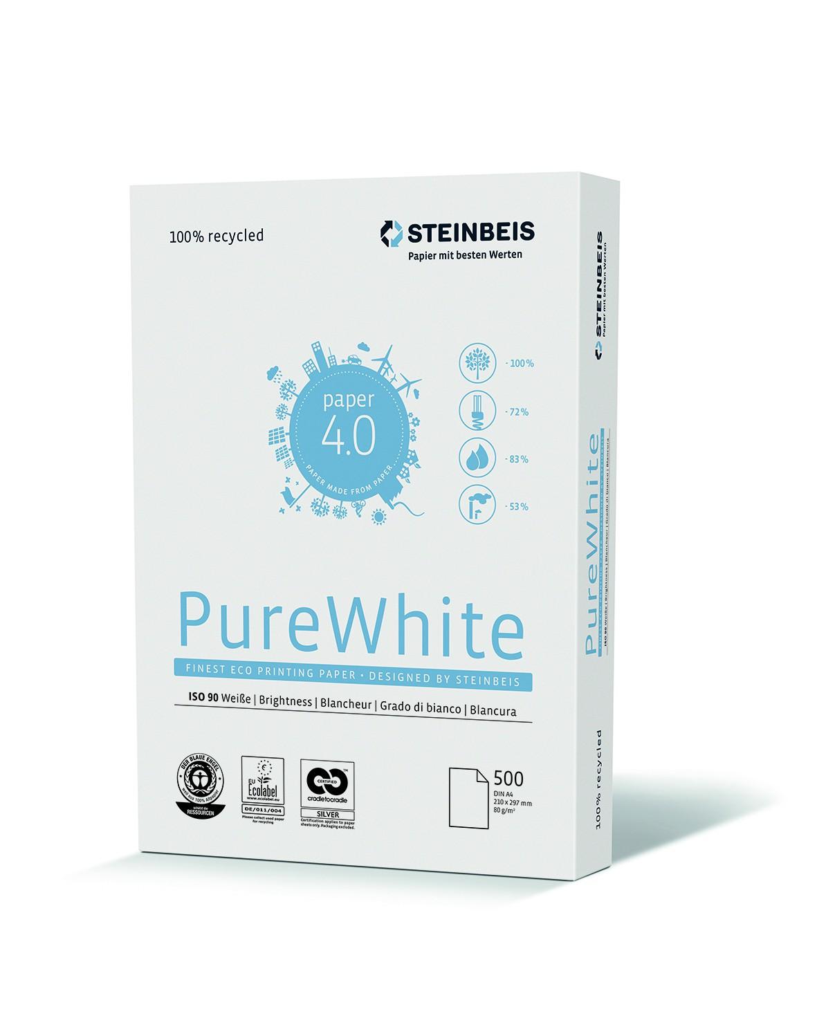 Vorschau: Steinbeis Pure White 80g/m² DIN-A4 500 Blatt