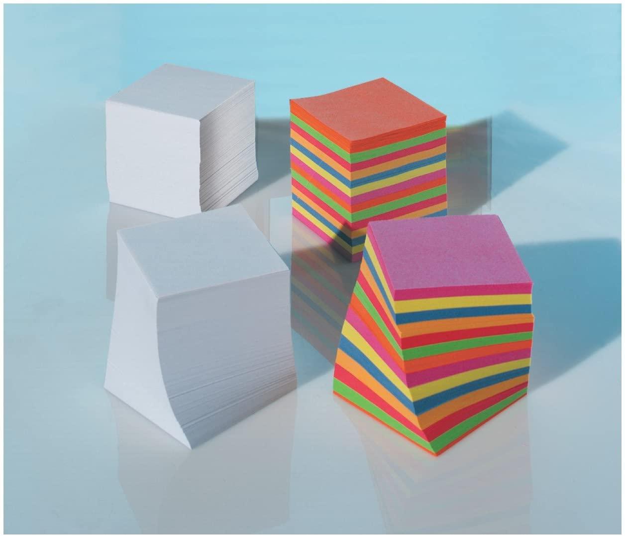 folia 9910/E - Notizklotz, Note Pad, Ersatzfüllung, Ersatzpapier für Zettelbox - 90x90x90 mm - weiß