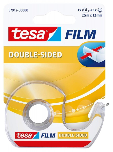 tesa 1 x tesafilm doppelseitig + Einwegabroller