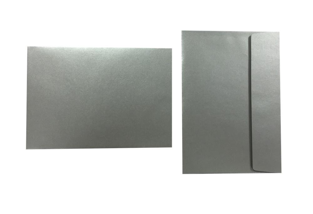 Inapa Shyne Umschläge C5 Grey Silver 120g/m² 100 Stück