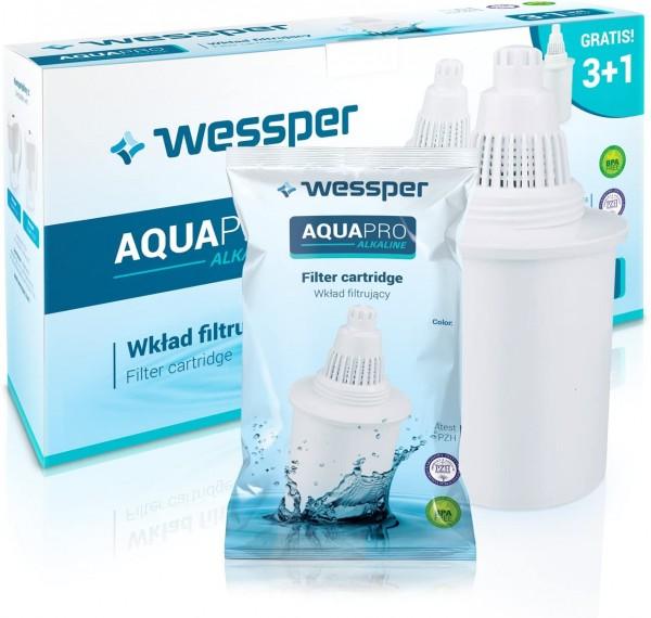 Wessper 4 Alkalische Wasserfilterkartusche AQUApro-7-Phasen-Ionisator-Filtersystem - Gesundes Wasser