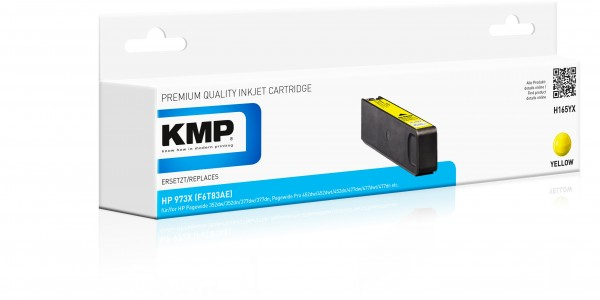 KMP Patrone H165YX für (F6T83AE) HP 973X HP PageWide Pro 450 Series HP PageWide Pro 452 dn etc. yel