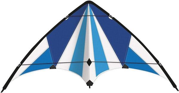 Paul Günther 1083 - Sportlenkdrachen Blue Loop 130, Drachen für Anfänger, Segel aus reißfestem Ripst