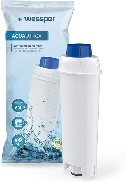 Wessper Kaffeemaschinenwasserfilter WES039, Kompatibel mit DeLonghi seria EC, seria ECAM, seria ESAM
