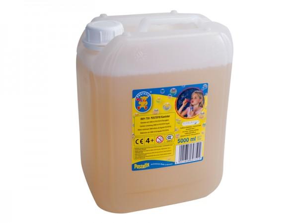 Pustefix – Nachfüllkanister – 5 L Seifenblasenflüssigkeit – Seifenblasen – Gebrauchsfertig Gemischt