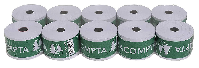 10x EXACOMPTA Bonrollen 1-lagig 60g/m² 44mm x44m x 70mm - 40828E