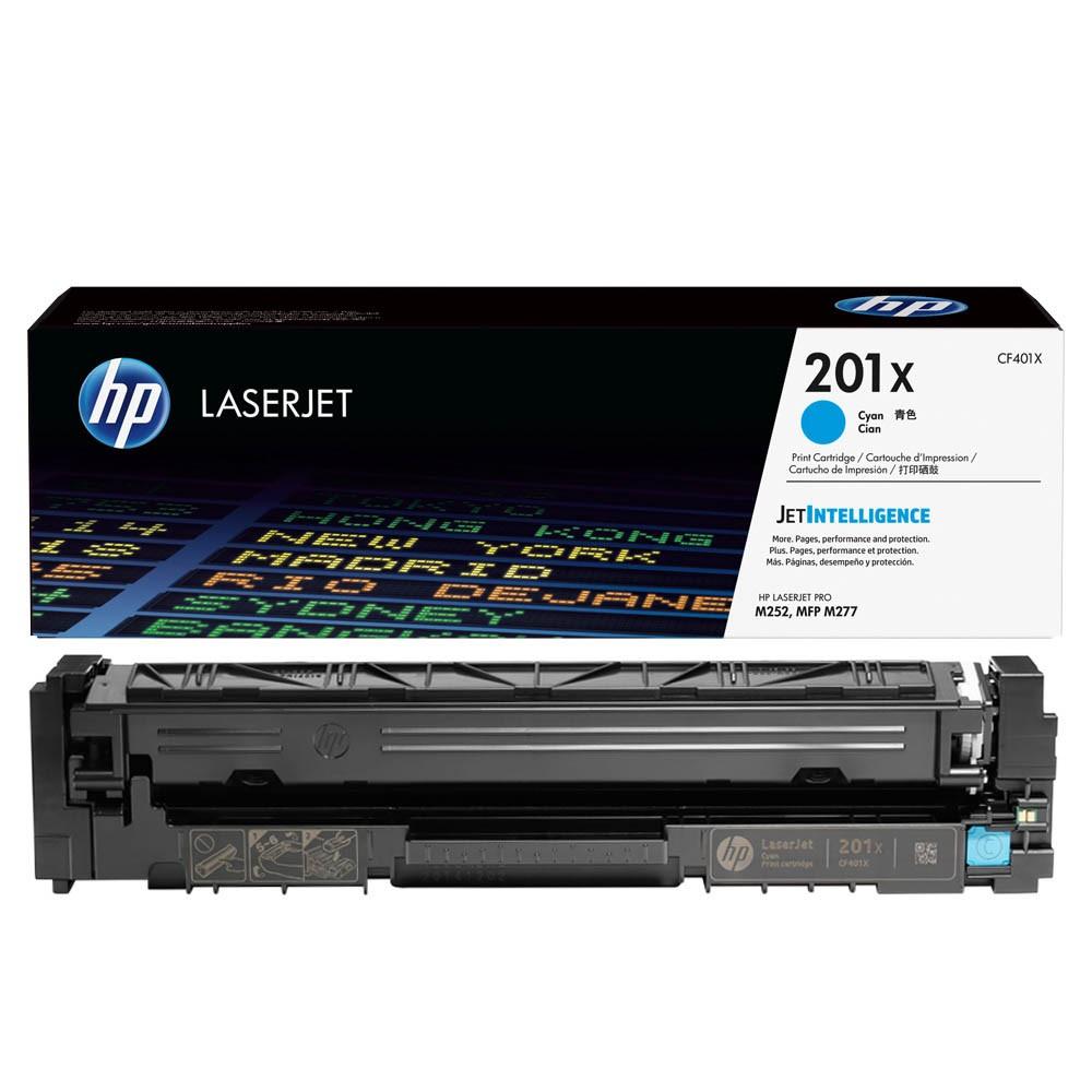 Original HP 201X (CF401X) cyan Toner HP Color LaserJet Pro M252/MFP 274n/M277