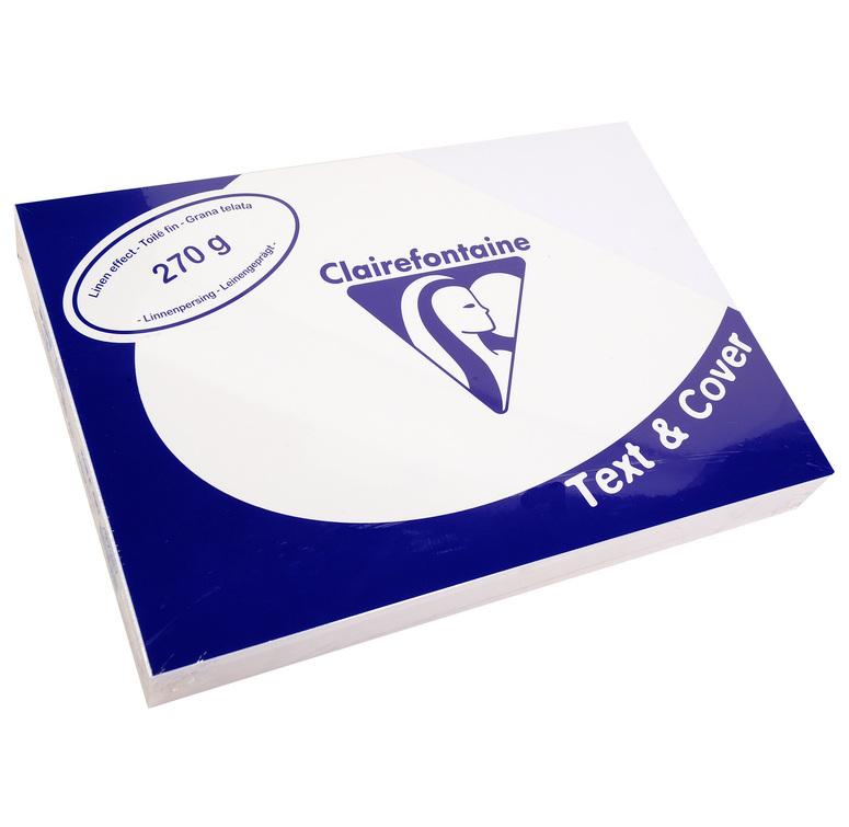 Clairefontaine Leinengeprägtes Papier 270 g/m² DIN-A4 Weiß 100 Blatt
